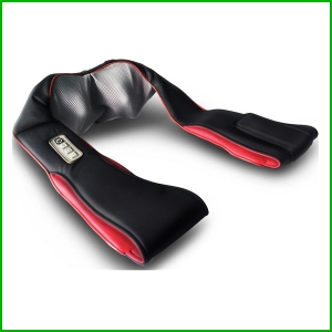 Rechargeable cordless shiatsu neck and back massager